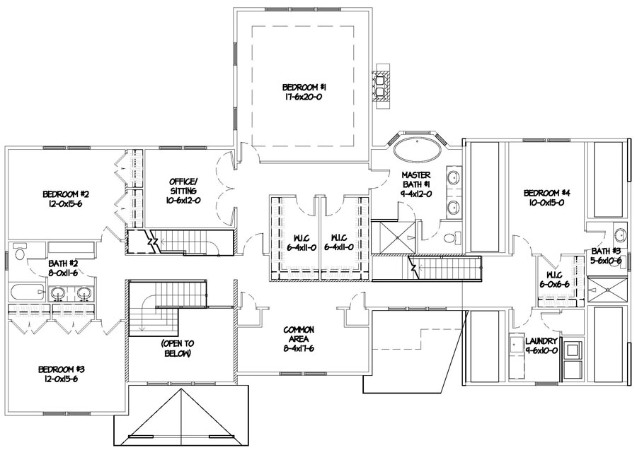 Ground floor of a Milton New England Transitional
