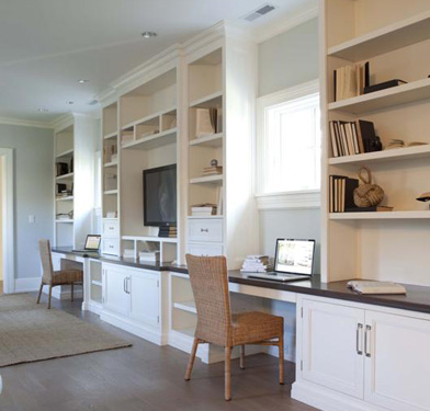 Work stations in a Milton colonial